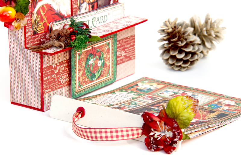 Card and Letters Holder St Nicholas Tutorial by Marina Blaukitchen Product by Graphic 45 photo 13