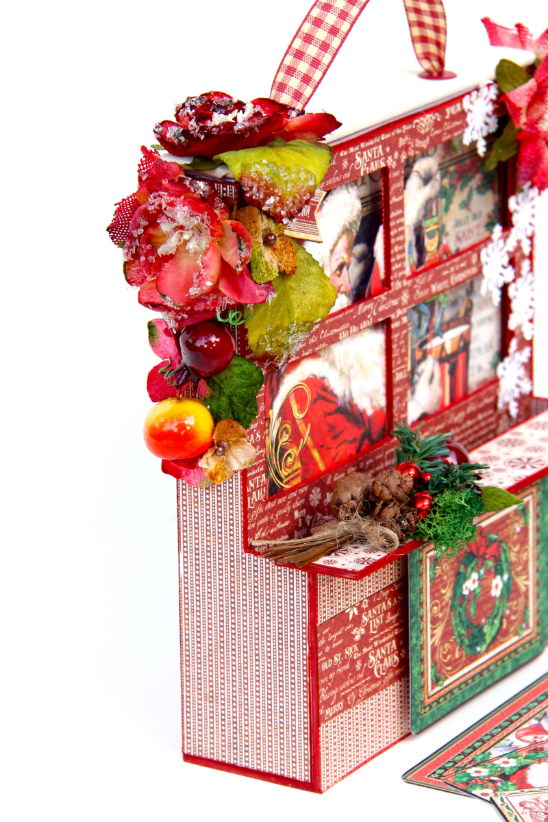 Card and Letters Holder St Nicholas Tutorial by Marina Blaukitchen Product by Graphic 45 photo 5