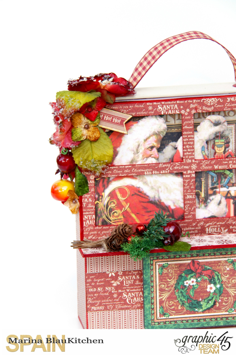 Card and Letters Holder St Nicholas Tutorial by Marina Blaukitchen Product by Graphic 45 photo 2