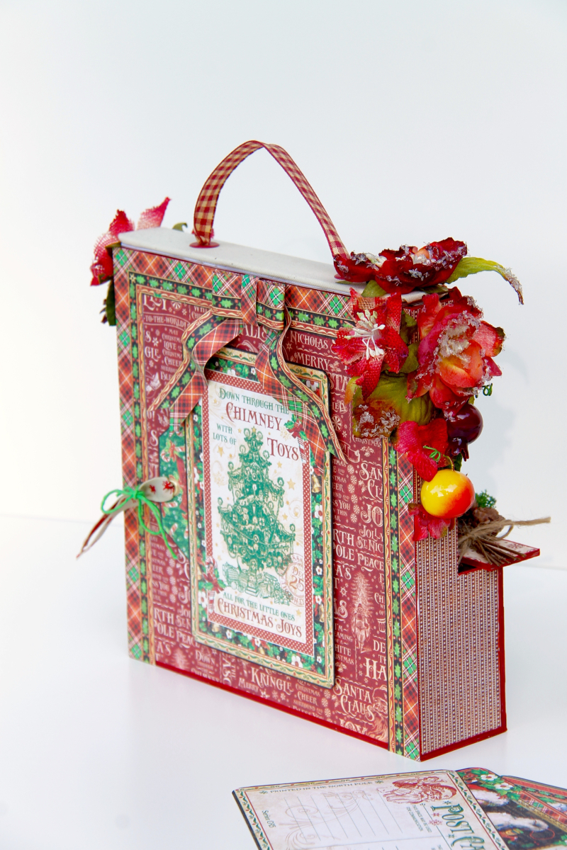 Card and Letters Holder St Nicholas Tutorial by Marina Blaukitchen Product by Graphic 45 photo 7