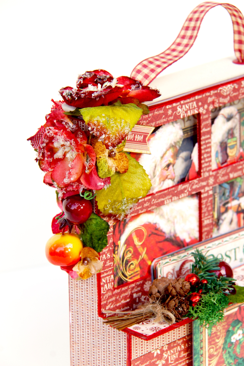 Card and Letters Holder St Nicholas Tutorial by Marina Blaukitchen Product by Graphic 45 photo 11