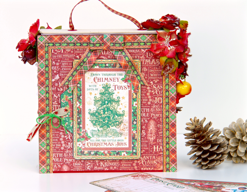 Card and Letters Holder St Nicholas Tutorial by Marina Blaukitchen Product by Graphic 45 photo 8