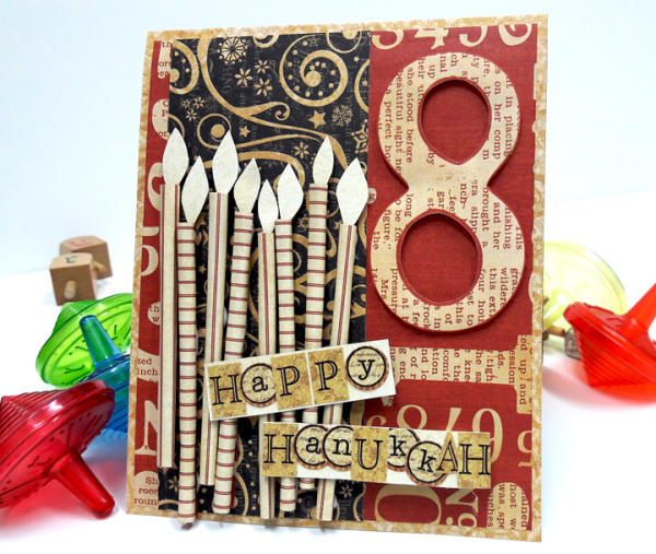 Happy Hanukkah Card, DIY Craft Paper and St Nicholas, by Einat Kessler, product by Graphic 45, photo 3
