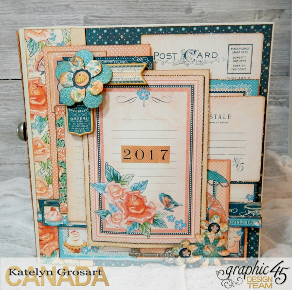 2017 Scrapbook Planner, Children's Hour, By Katelyn Grosart, Product By Graphic 45, Photo 1