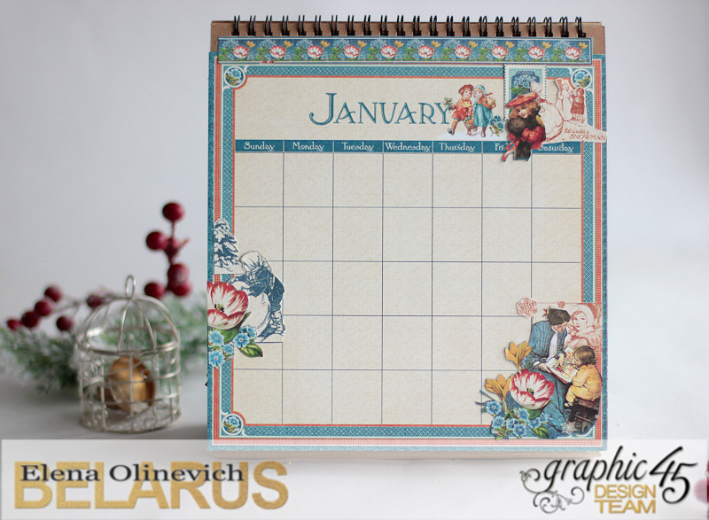 Easel Calendar, Children's Hour, by Elena Olinevich, product by Graphic45, photo12