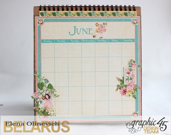 Easel Calendar, Children's Hour, by Elena Olinevich, product by Graphic45, photo17