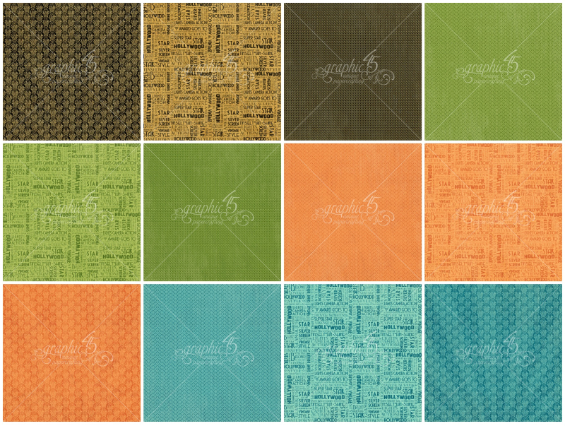 Vintage Hollywood Patterns & Solids Paper Pad Pages