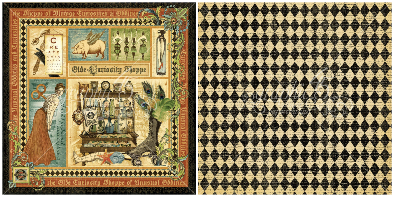 1 - Olde Curiosity Shoppe signature page, a new Deluxe Collector's Edition from Graphic 45!