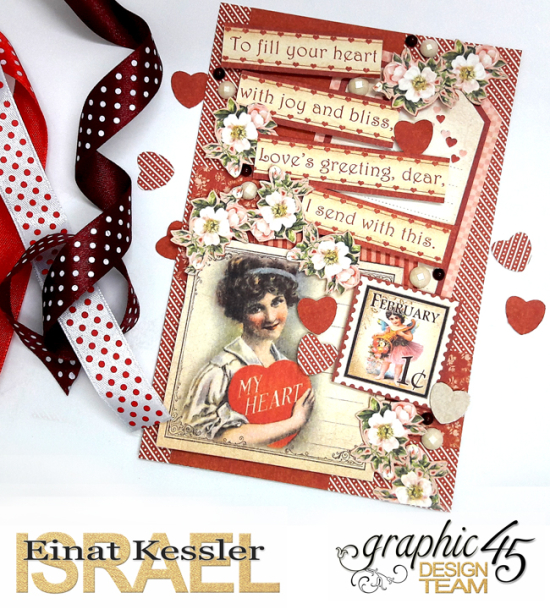 Valentine's Card, Place in Time, by Einat Kessler, product by Graphic 45, photo 1