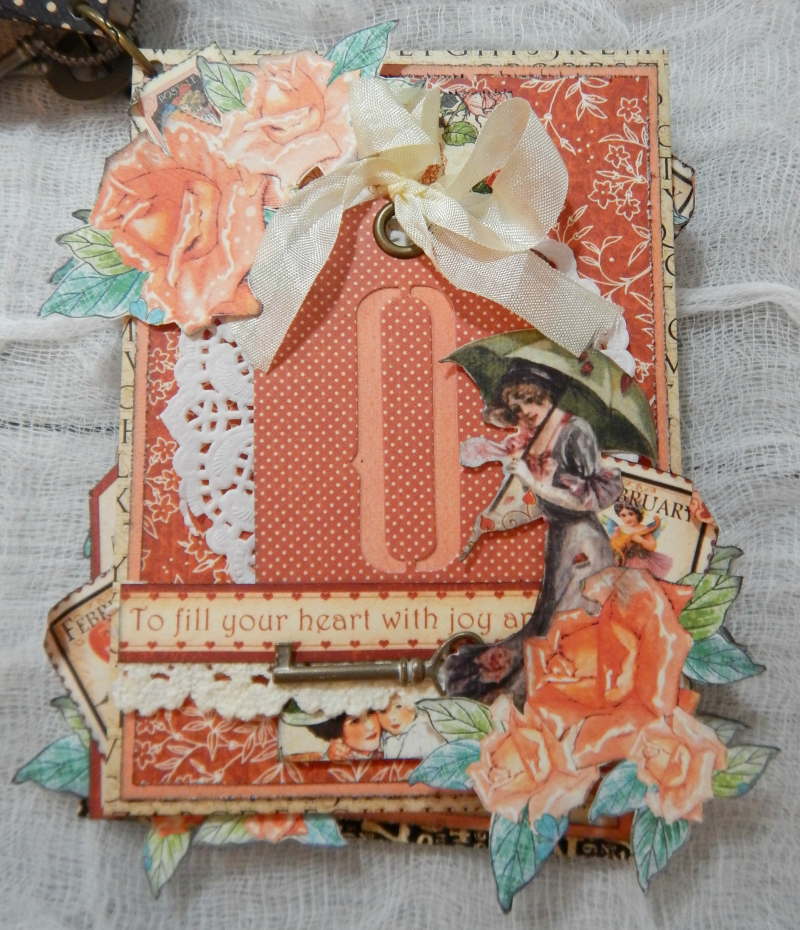 LOVE Mini Album, Cafe Parisian-Children's Hour & Place In Time DCE, By Katelyn Grosart, Product By Graphic 45, Photo 6