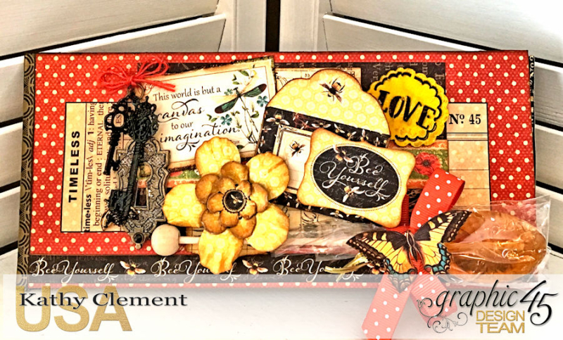 Love Sweet Love Policy Envelope Tutorial, Nature's Sketchbook, by Kathy Clement, Product by Graphic 45, Photo 8