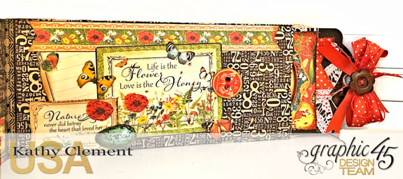 Love Sweet Love Policy Envelope Tutorial, Nature's Sketchbook, by Kathy Clement, Product by Graphic 45, Photo 4
