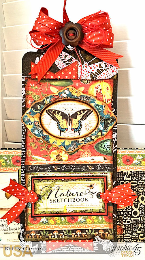 Love Sweet Love Policy Envelope Tutorial, Nature's Sketchbook, by Kathy Clement, Product by Graphic 45, Photo 5