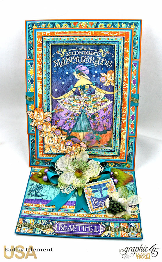 Beautiful Person Birthday Shaker Card, Midnight Masquerade, by Kathy Clement, Product by Graphic 45, Photo 1