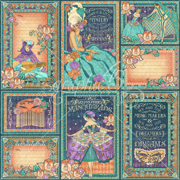 Midnight Masquerade Journaling & Ephemera Cards - these will come pre-cut!