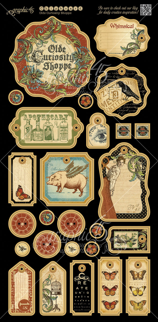 Olde Curiosity Shoppe Deluxe Collector's Edition Chipboard