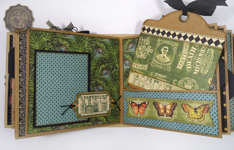 Olde Curiosity Shoppe Deep Square Matchbook Box & Square Tag Album by Annette Green-4