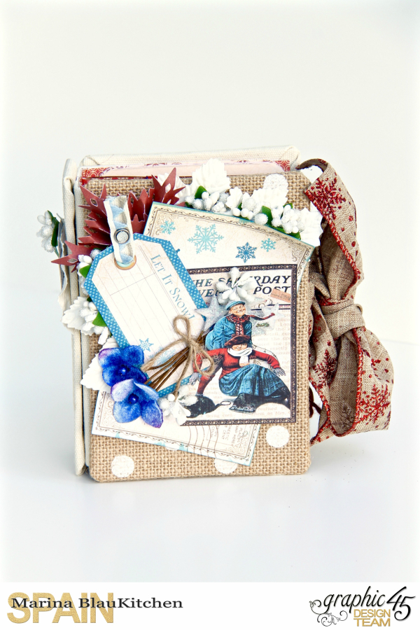 Winter-themed Diary Album Place in Time by Marina Blaukitchen Product by Graphic 45 photo 2