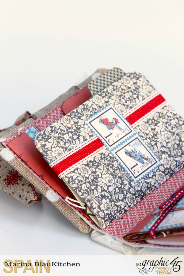 Winter-themed Diary Album Place in Time by Marina Blaukitchen Product by Graphic 45 photo 8