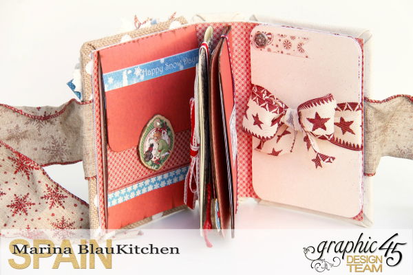 Winter-themed Diary Album Place in Time by Marina Blaukitchen Product by Graphic 45 photo 9 (1)