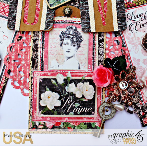 Graphic 45 Mon Amour Love Banner with Tutorial by Pam Bray Photo 5_3331
