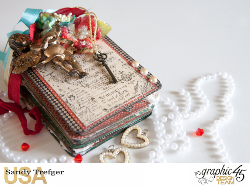 Love Tag Album, Enchanged Forest, Tutorial by Sandy Trefger, Product by Graphic 45, Photo 002