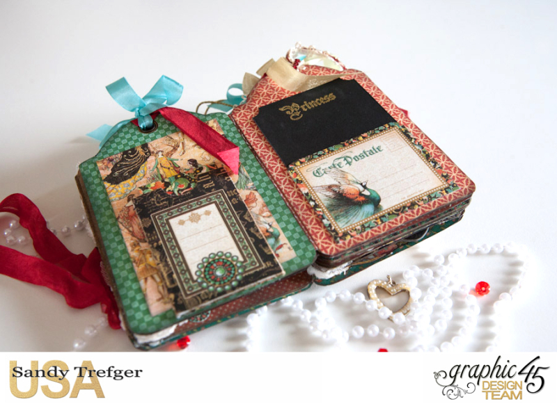 Love Tag Album, Enchanged Forest, Tutorial by Sandy Trefger, Product by Graphic 45, Photo 012