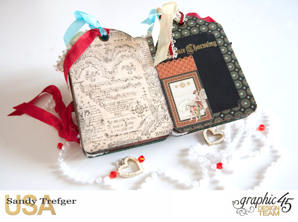 Love Tag Album, Enchanged Forest, Tutorial by Sandy Trefger, Product by Graphic 45, Photo 013