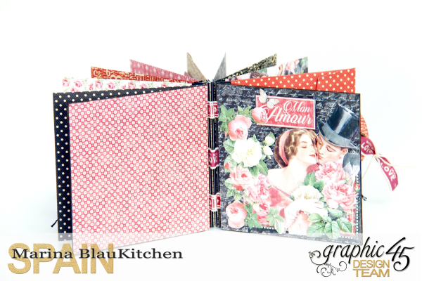 Love Album Policy Envelopes Tutorial by Marina Blaukitchen Product by Graphic 45 photo 16