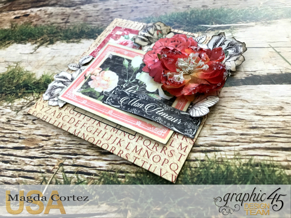 Love Policy, Mon Amour and Time to Flourish, By Magda Cortez, Product of Graphic 45, Photo 08 of 10, Project with Tutorial