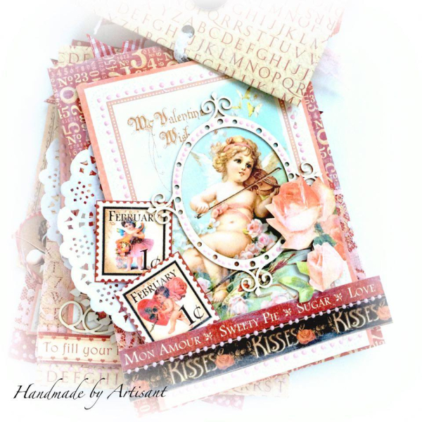 -Place in Time- and -Sweet Sentiments- envelopes Valentines album for Graphic 45 by Aneta Matuszewska, photo 4