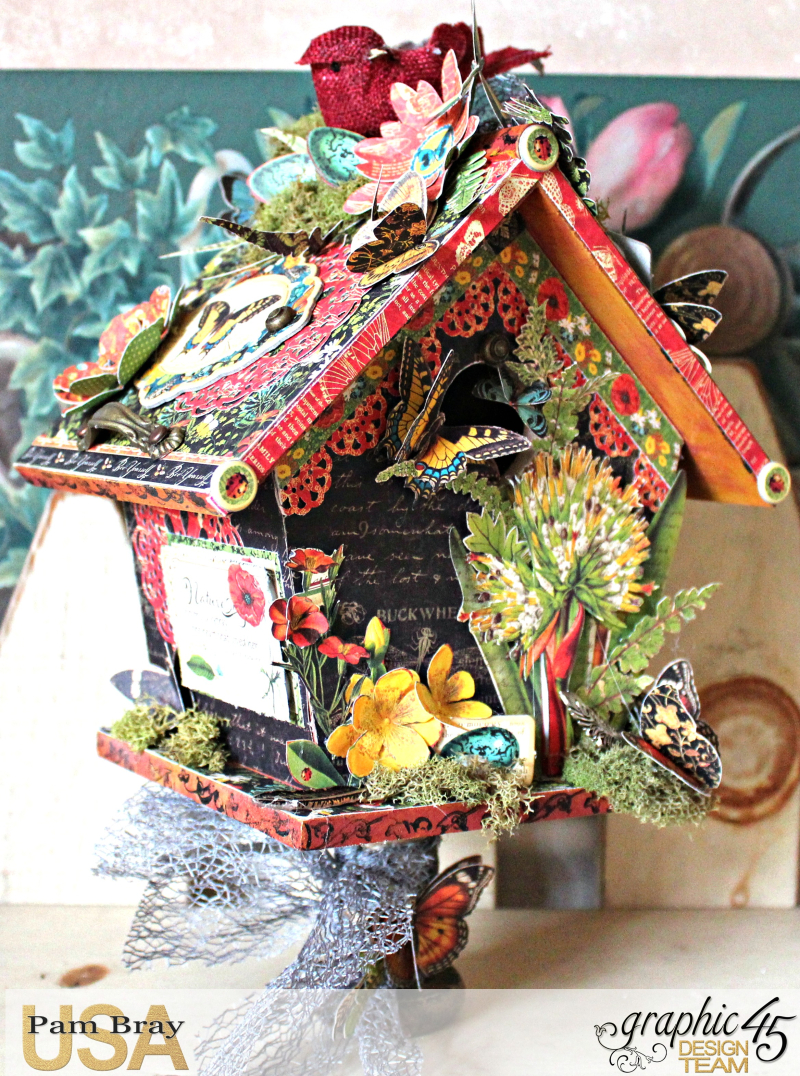 Graphic 45 Nature Sketchbook Birdhouse by Pam Bray  with Tutorial - Photo 2_3556