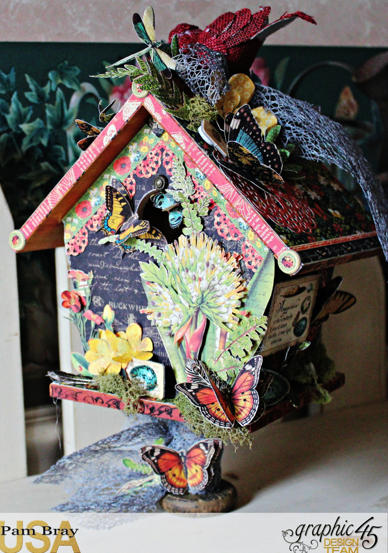 Graphic 45 Nature Sketchbook Birdhouse by Pam Bray  with Tutorial - Photo 3_3558