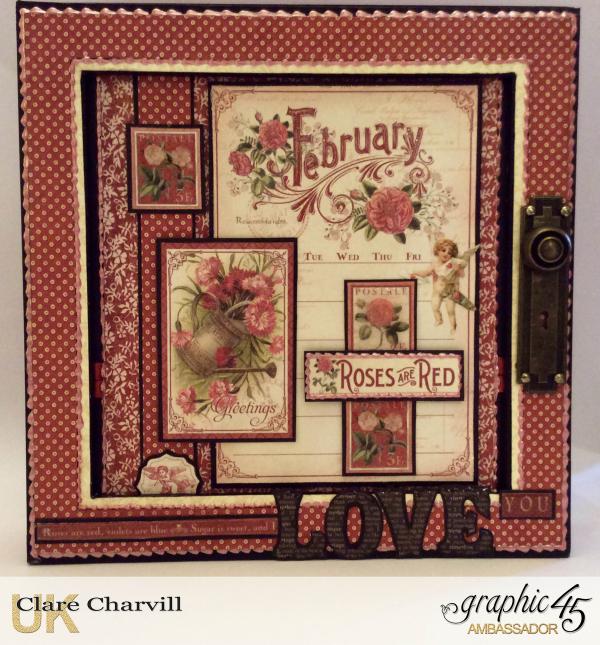 Vintage Valentine Album in a Box 2 Clare Charvill Graphic 45
