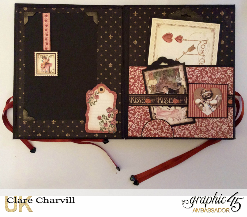 Vintage Valentine Album in a Box 9 Clare Charvill Graphic 45