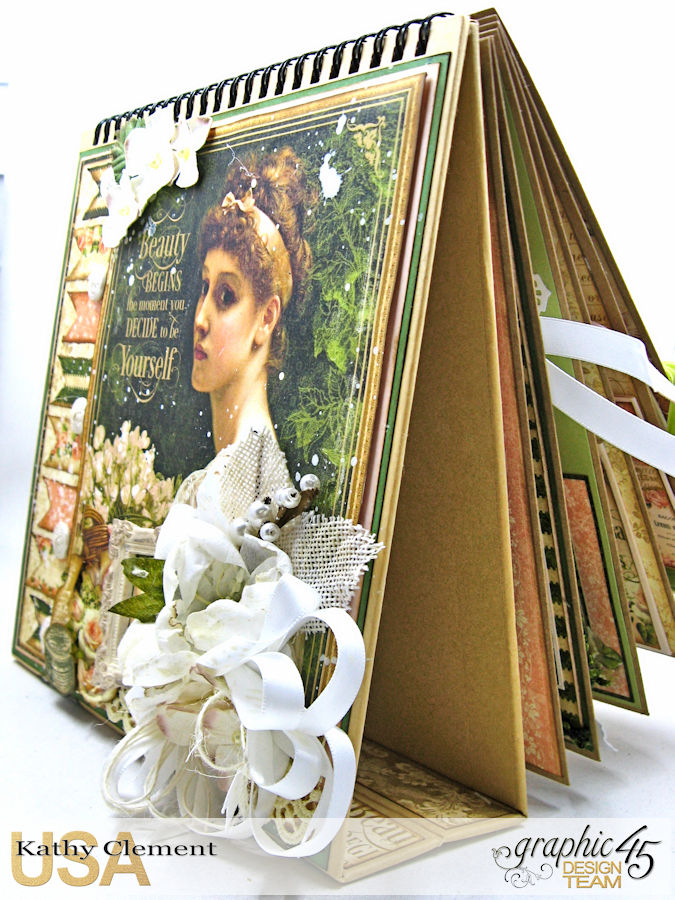 Beauty Easel Album, Portrait of a Lady, by Kathy Clement, Product by Graphic 45, Photo 5