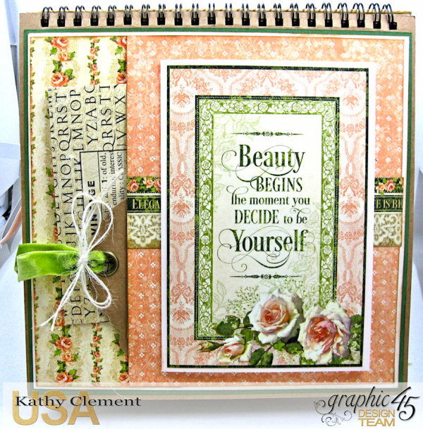 Beauty Easel Album, Portrait of a Lady, by Kathy Clement, Product by Graphic 45, Photo 6