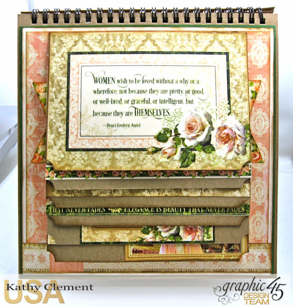 Beauty Easel Album, Portrait of a Lady, by Kathy Clement, Product by Graphic 45, Photo 9
