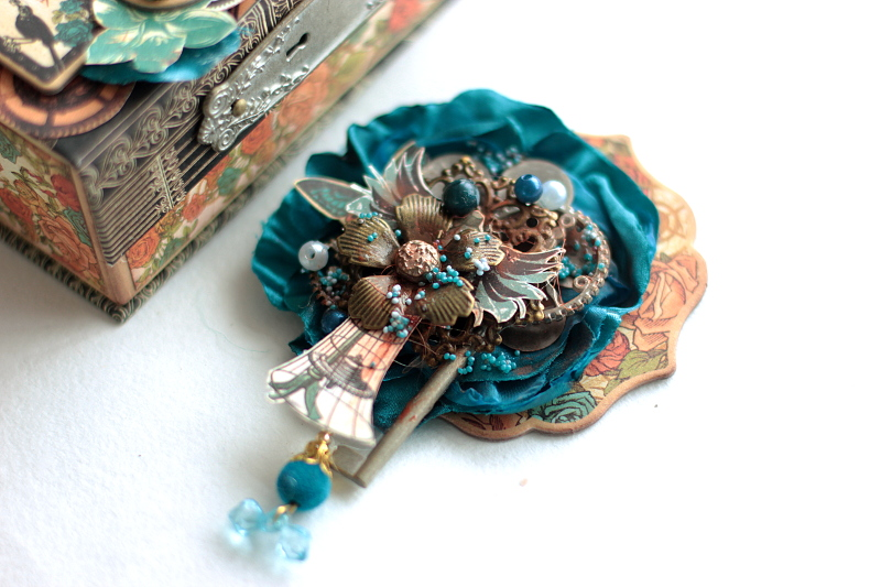 Jewelry Brooch, Steampank Debutante, by Elena Olinevich, product by Graphic45, photo2a