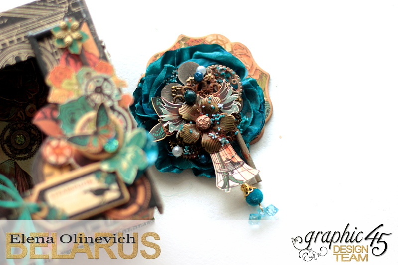 Jewelry Brooch, Steampank Debutante, by Elena Olinevich, product by Graphic45, photo2