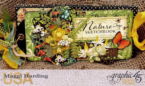 Tag mini, Nature Sketchbook, tutorial by Maggi Harding, Graphic 45 (01)
