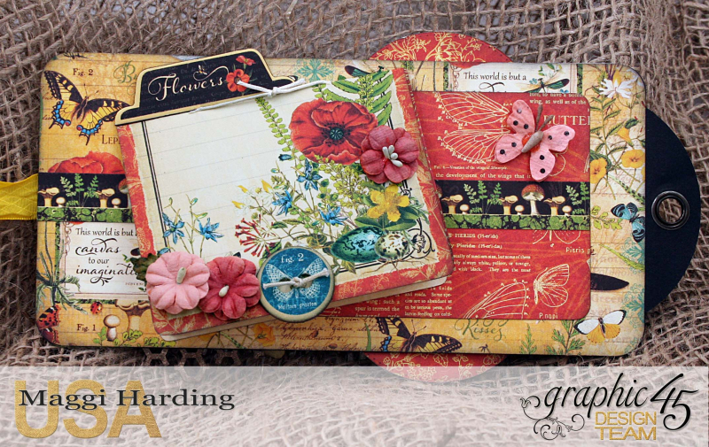 Tag mini, Nature Sketchbook, tutorial by Maggi Harding, Graphic 45 (04)