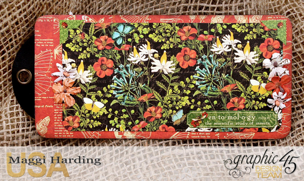 Tag mini, Nature Sketchbook, tutorial by Maggi Harding, Graphic 45 (09)