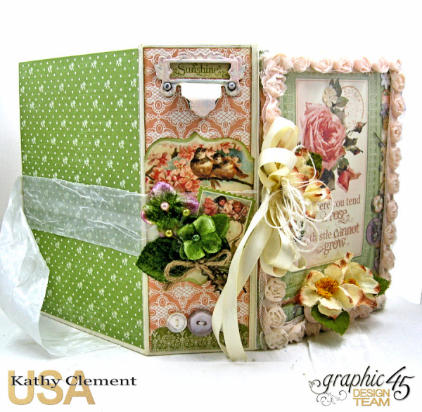Secret Garden Tag Album in a Box Tutorial, Secret Garden, by Kathy Clement, Product by Graphic 45, Photo 32