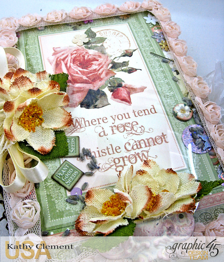 Secret Garden Tag Album in a Box Tutorial, Secret Garden, by Kathy Clement, Product by Graphic 45, Photo 36