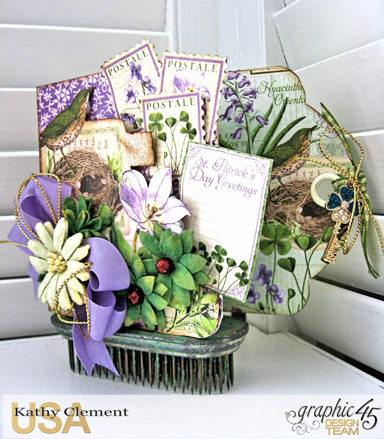 St. Patrick's Day Tag Treat Holders, Time to Flourish, by Kathy Clement, Product by Graphic 45, Photo 3