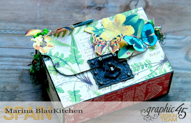 Box And Album Nature Sketchbook by Marina Blaukitchen Product by Graphic 45 photo 1