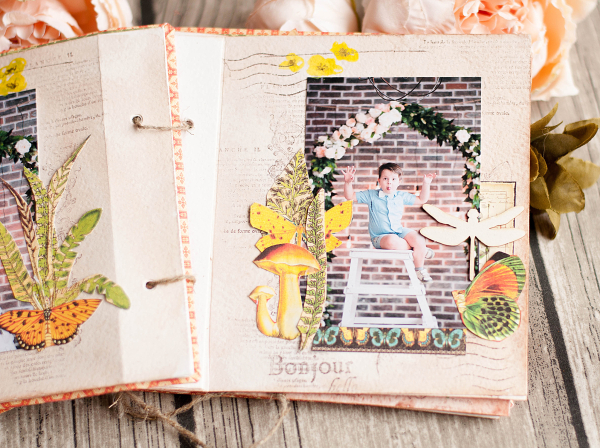 Mini album-Nature Sketchbook- Lena Astafeva-product by Graphic 45-34