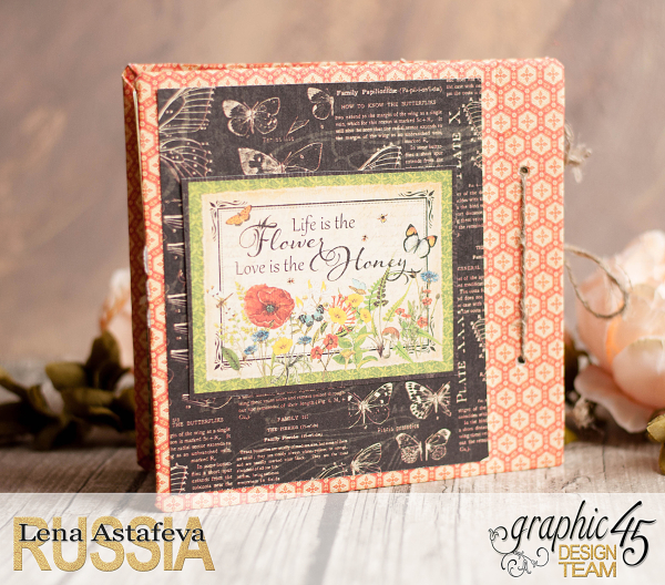 Mini album-Nature Sketchbook- Lena Astafeva-product by Graphic 45-27