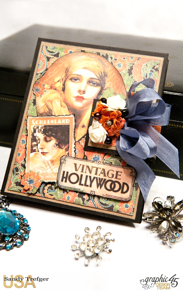 Passport Mini Album  Vintage Hollywood  Tutorial by Sandy Trefger  Product by Graphic 45  Photo 006